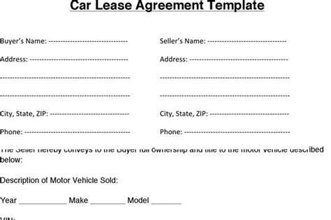 Car Lease Agreement Template Uk 3 Car Lease Agreement Free