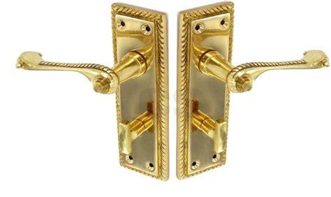 Securit S2102 Georgian Bathroom Door Handles Brass 150mm