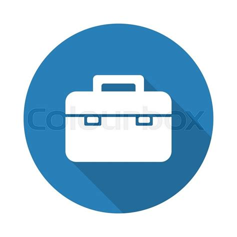 11967 briefcase icon flat flat white briefcase web icon with drop shadow on