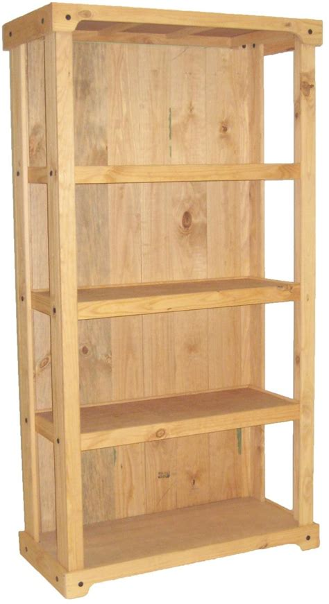 Wood Shelves by Wood Shelving Stand Closed Back Design