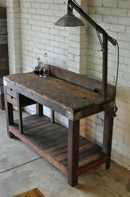 nice  workbench vintage industrial furniture vintage