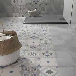 carrelage salle de bain au sol With revetement carrelage salle de bain