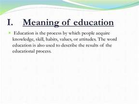 meaning  education