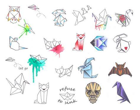 ideas  origami tattoo  pinterest masking