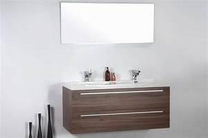 Lovely meuble salle de bain bois double vasque new for Salle de bain design avec meuble sous vasque bois castorama