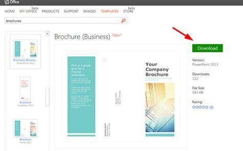 simple brochure templates  powerpoint