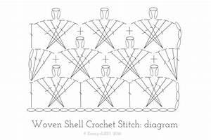 Tutorial  Woven Shell Crochet Stitch  U2014 Emmy   Lien