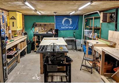 Basement Woodworking Clean Hell Gets