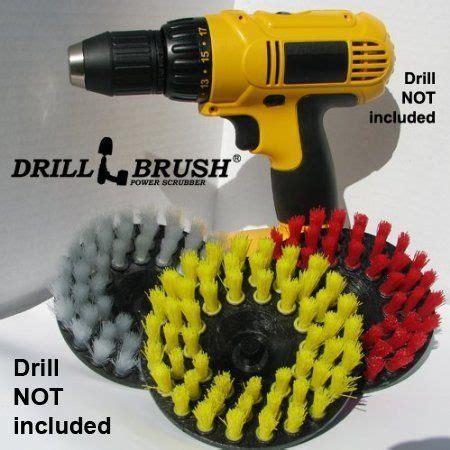 tile  grout bathroom floor  drill brush cleaning kit