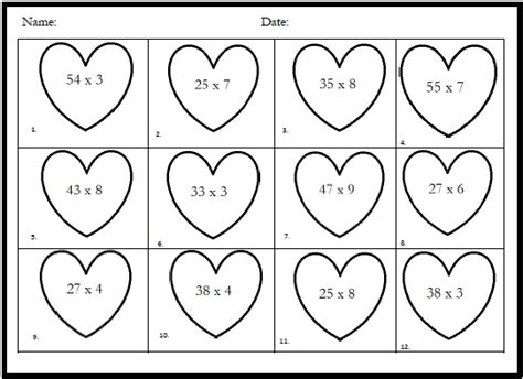 artistry of education fourth grade valentine math freebie