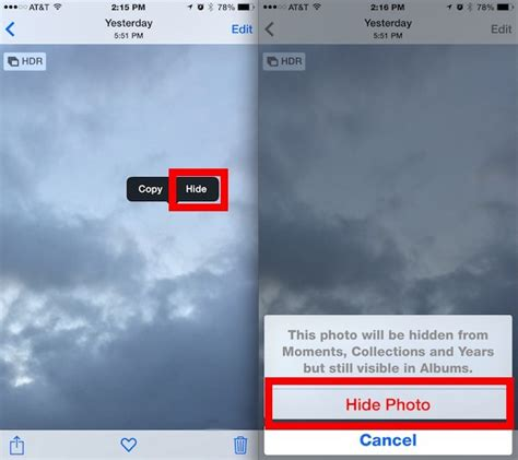 hide photos on iphone how to hide photos and on iphone