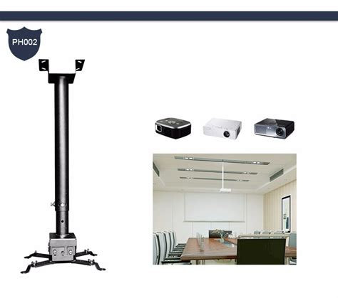 Ceiling Projector Mount Retractable by 360 Rotating Retractable Motorized Dual Projector Mount