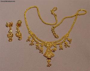 Beautiful 22k Gold Necklace With Matching Earrings 22g For ...
