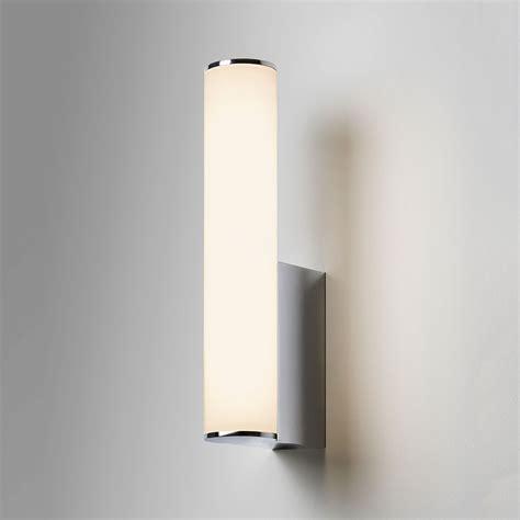 astro domino polished chrome bathroom led wall light at uk