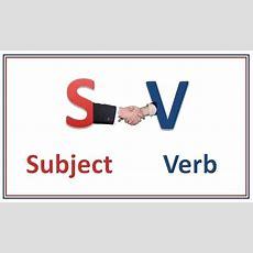 Subjectverb Agreement