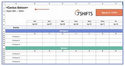 Restaurant Template Scheduling Excel Schedule Week Spreadsheet