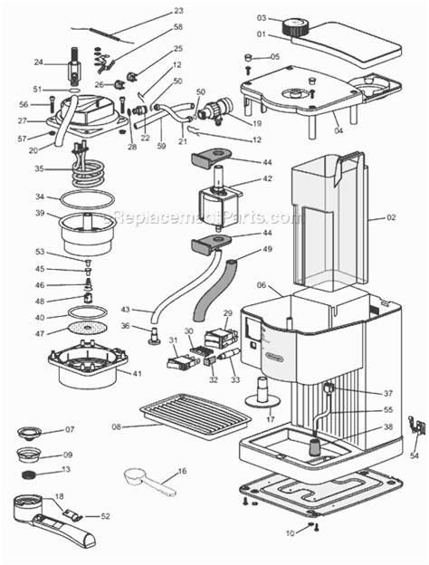 delonghi ec140b parts list and diagram ereplacementparts com