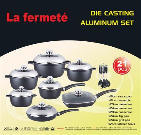 cookware cast pot aluminum non die stick dessini piece meaning regina cooking aluminium sets anodized clearance vs bidorbuy za italy