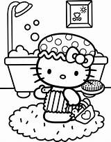 Coloring Kitty Hello Pages Bath Colouring Printable Elephant Children Print Birthday Party Books Printables Adult Adults Disney Popular Nerd Discover sketch template