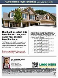 mortgage marketing flyers loan officer marketing With free mortgage flyer templates