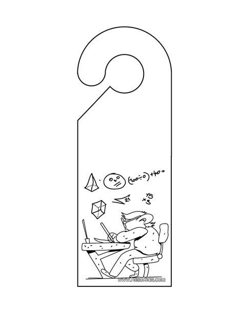 Free Do Not Disturb Door Hanger Template by Do Not Disturb Door Hanger Coloring Pages Hellokids