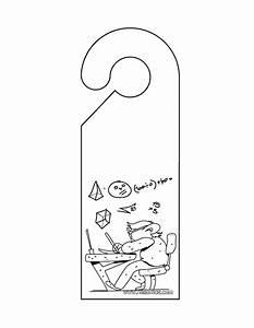 Do not disturb door hanger coloring pages hellokidscom for Free do not disturb door hanger template