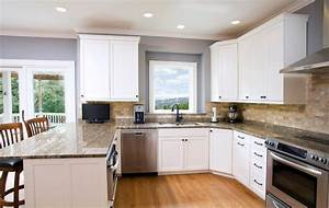 traditional white kitchen mdf paint traditional With best brand of paint for kitchen cabinets with wall art landscape