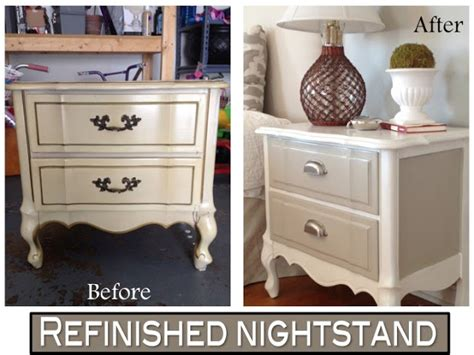 refinished nightstand  diy chalk paint