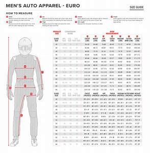 Sizing Chart  Alpinestars Auto Racing Suits