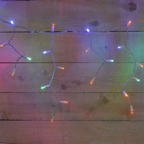 multi color icicle lights multi color icicle string lights 9 5 ft
