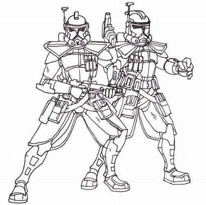 Coloring Lego Pages Wars Clone Star Trooper