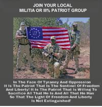 join  local militia  iii patriot group   face