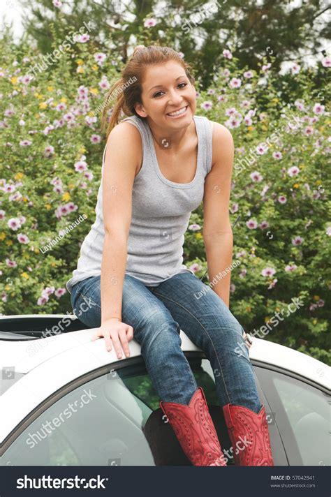 Beautiful Happy 18 Year Old Teen Stock Foto 57042841