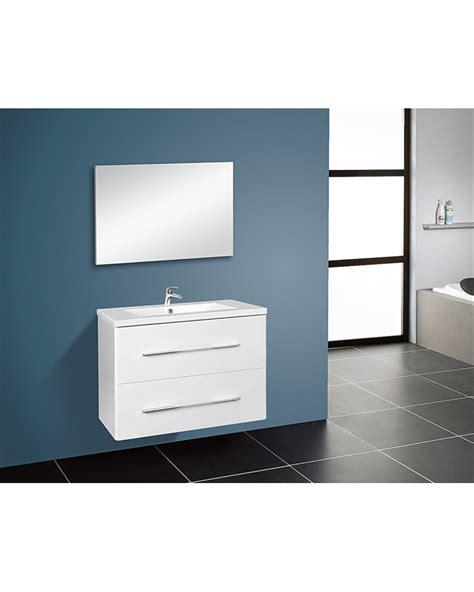 meuble de salle de bain sous vasque 2 portes 80 avec vasque pas cher