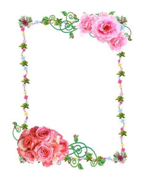 border of roses rose border in png clipart best