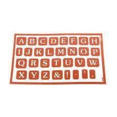 peel stick stencil alphabet 1 glass etching pinterest With peel and stick letters for glass