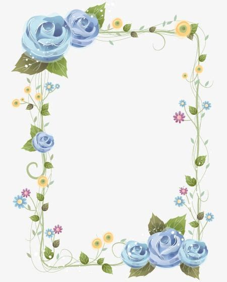 pretty floral border pretty flowers frame png