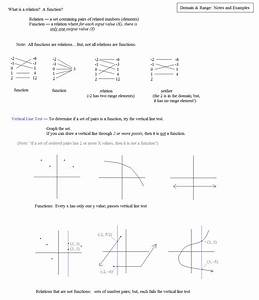 Worksheets. Domain And Range Of A Function Worksheet ...