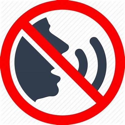 Quiet Talking Clipart Prohibited Warning Icon Library