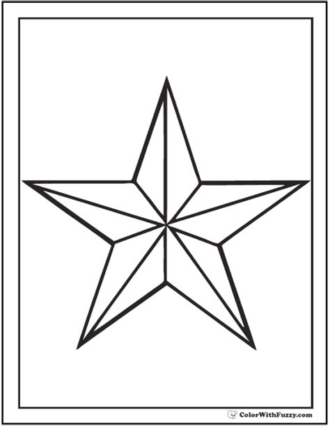 star coloring pages customize  print