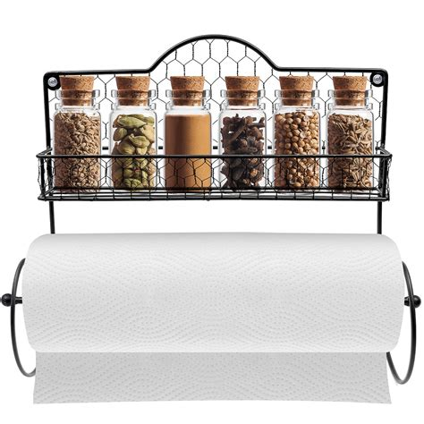 Spice Rack Holder by Sorbus Paper Towel Holder Spice Rack And Multi Purpose