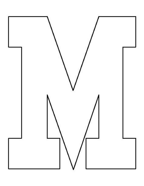 letter  pattern   printable outline  crafts