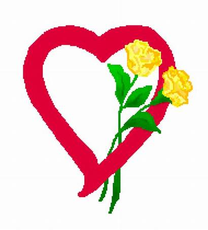 Yellow Rose Clipart Clip Hearts Heart Roses