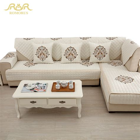 how to buy a sofa aliexpress com buy four seasons embroidered slipcovers