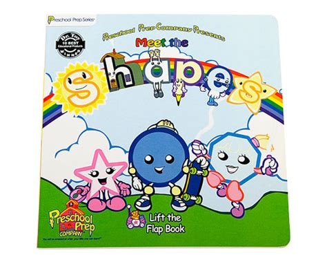 meet the shapes lift the flap board book preschool prep 449 | shapes flap large 02