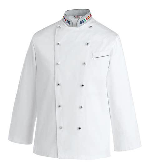 veste de cuisine europe avec col drapeau européen