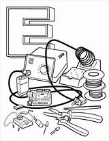 Coloring Pages Electronic Electronics Books Radio Colouring Amateur Adult Sheets Station Space Makers Adafruit Youngest Fostering Industries Even Activities International sketch template