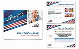 political campaign powerpoint presentation template design With campaign mailer template