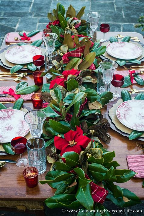 how to set a welcoming red white christmas table