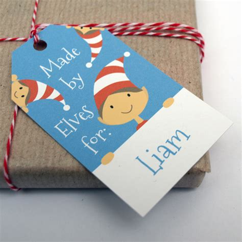 personalised christmas gift tags for kids by doodlebump